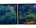 "Soup Diptych 42""x22"" 2011 SOLD"